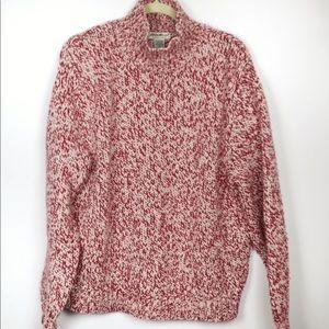 Eddie Bauer Lambswool Angora Blend Red Sweater